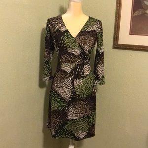 Ann Taylor Loft Print Petite Dress